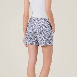 Level 99 Navy Floral Repeat Cassandra Shorts